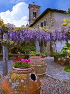 OLD CHURCH GARDEN, GREVE IN CHIANTI, ITALY