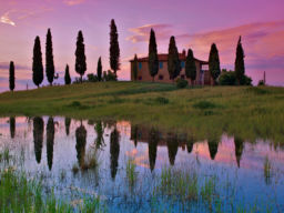 TUSCAN REFLECTION, PIENZA ITALY