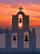 Three Bells Sunset, Santorini
