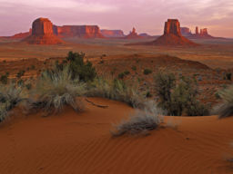 DAWN ON THE BUTTES, MONUMENT VALLEY