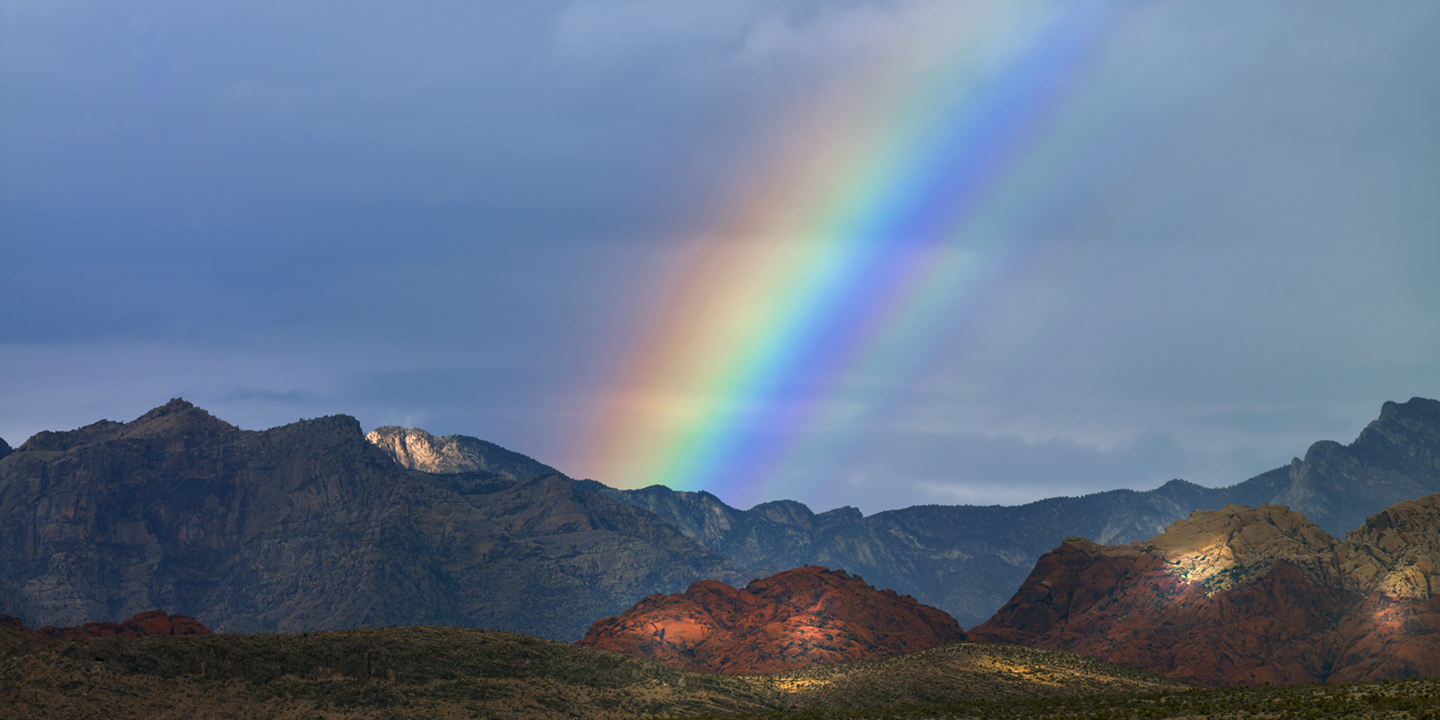 RAINBOW OVER RED ROCK