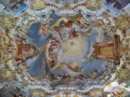 LARGE CEILING FRESCO, THE CHURCH OF WEIS, GERMANY